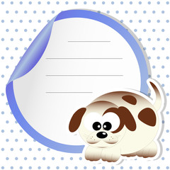 sticker dog - place your text