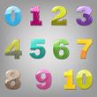 Cartoon Numbers Set
