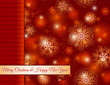 christmas red background with snowflakes, vector