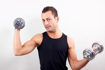 Mann beim training