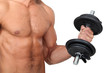 Man lifting dumbbells