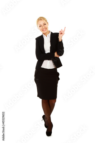 A full length portrait business woman