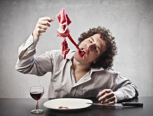 Gorging of Meat