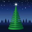Oh Tannenbaum, frohe Weihnachten, Sternenhimmel, Nacht