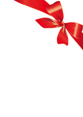 bow, red, background, Christmas,