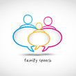 family speech bubbles