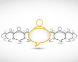 business concept dialog bubbles