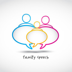 family speech bubbles