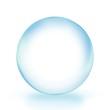 glass ball Blue