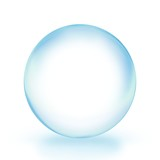 glass ball Blue