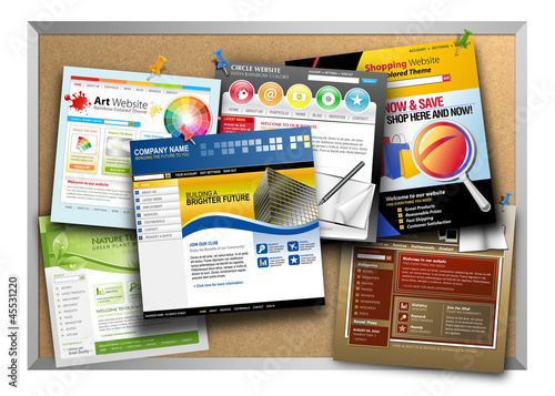 Internet Website Design Bulletin Board