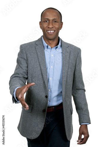 Black Man Shaking Hands