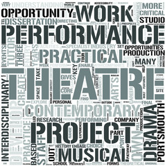 Drama and Performance Word Cloud Concept