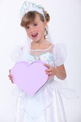 Child pretending to be a princess