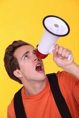 Boy with speaker