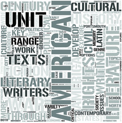 English and AmericanStudies Word Cloud Concept