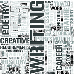 English and Creative Writing Word Cloud Concept