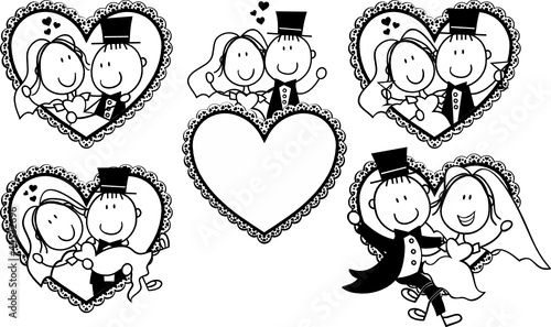 funny wedding cartoon portrait