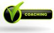 coaching sur bouton web vert et noir
