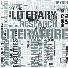 English Literature Word Cloud Concept