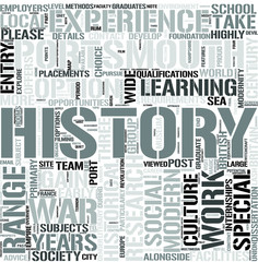 History Word Cloud Concept