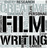 Film Englishand Creative Writing Word Cloud Concept
