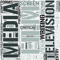 Film and Television EnglishWord Cloud Concept