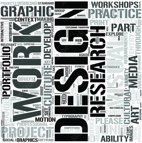 Graphic Design Word Cloud Concept