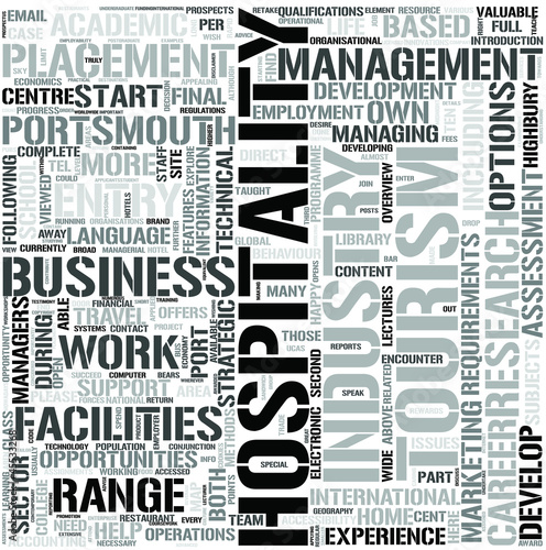 Hospitality Management Word Cloud Concept