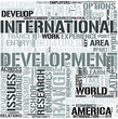 International DevelopmentStudies Word Cloud Concept