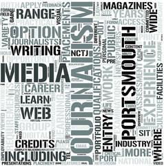 journalism with mediastudies Word Cloud Concept