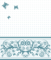 vector illustration of a  cover background with flower ornament