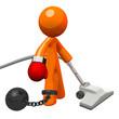 Orange Man Boxing Glove Ball and Chain