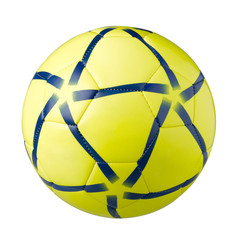 Yellow football a sporting goods isolated