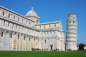 Piazza dei Miracoli with the Leaning Tower in Pisa