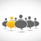 standing out business dialog bubbles
