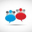 business teams speech concept