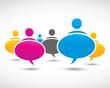 social media dialog bubbles
