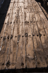 Old Deck Planks on Tall Ships in San Diego California