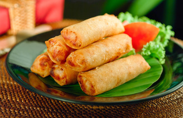 Mediterranean fried spring roll