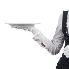 hand with a plate