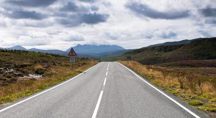 Empty road in Rural Landscape