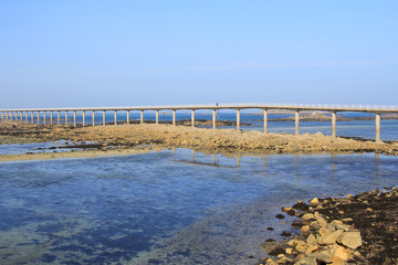 Low tide bridge