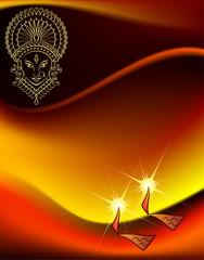 Durga Diwali Design