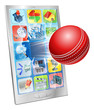 Cricket ball flying out of cell phone