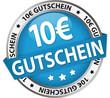Button Banner / 10 € Gutschein blau/silber