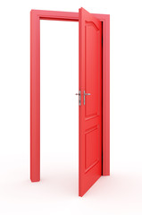 Red open doors