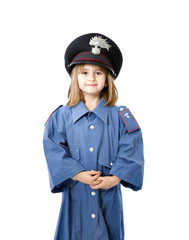 child with italian carabiniere uniform