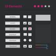 Vector modern user interface elements set