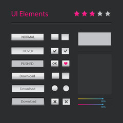 Vector modern user interface elements set